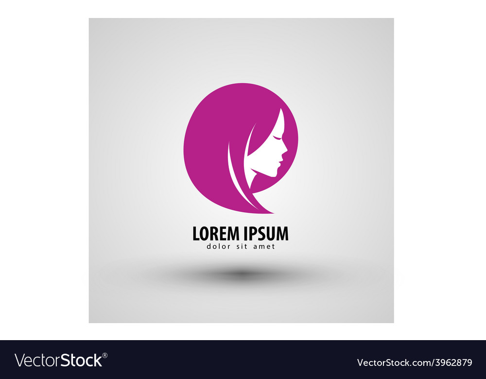 Beauty salon logo design template people vector image altavistaventures Images