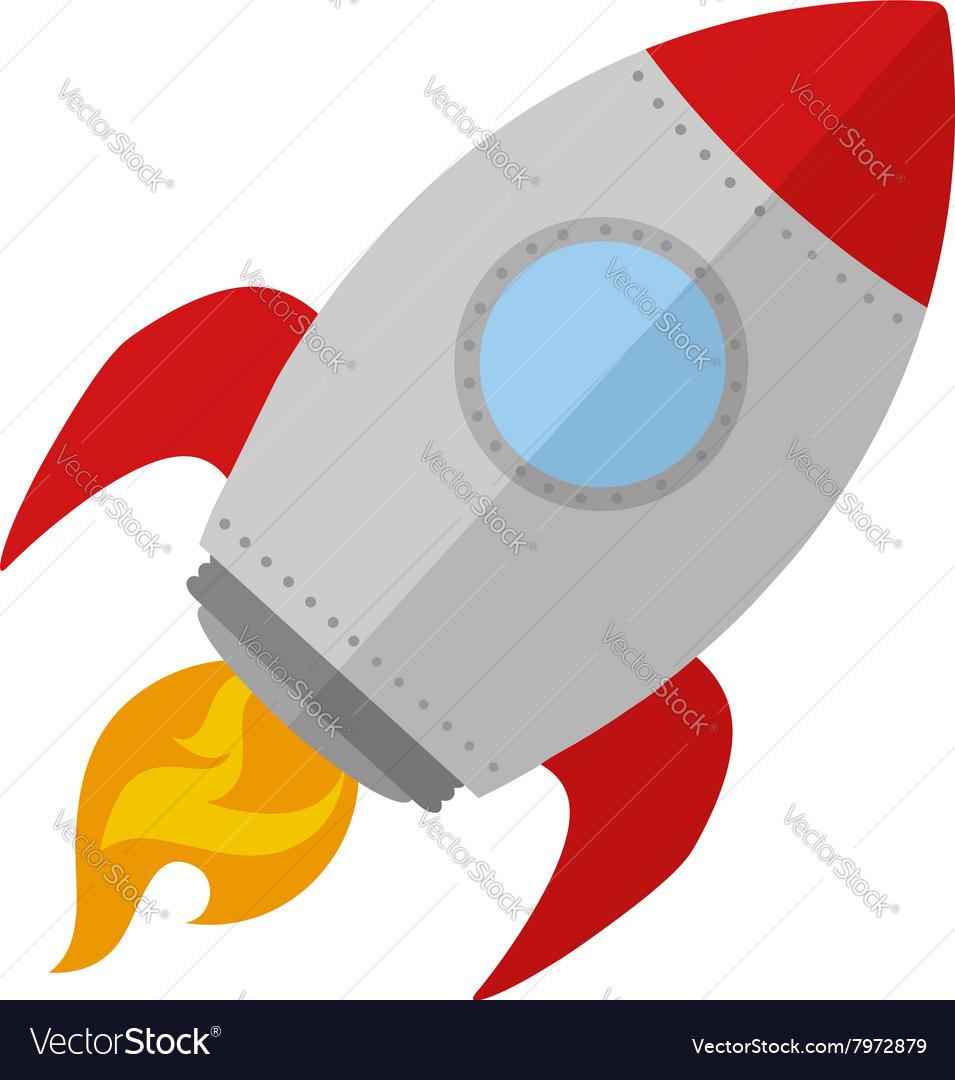retro rocket ship design royalty free vector image rh vectorstock com  cartoon rocket ship clip art free