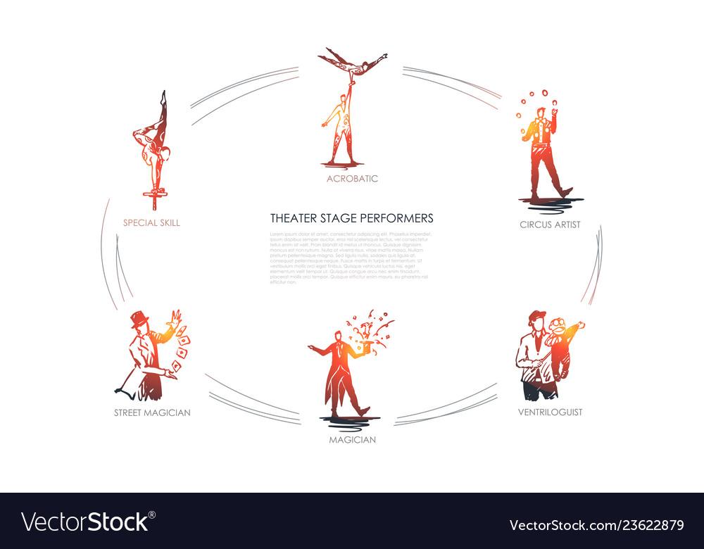 Theatre stage performance - acrobatic circus