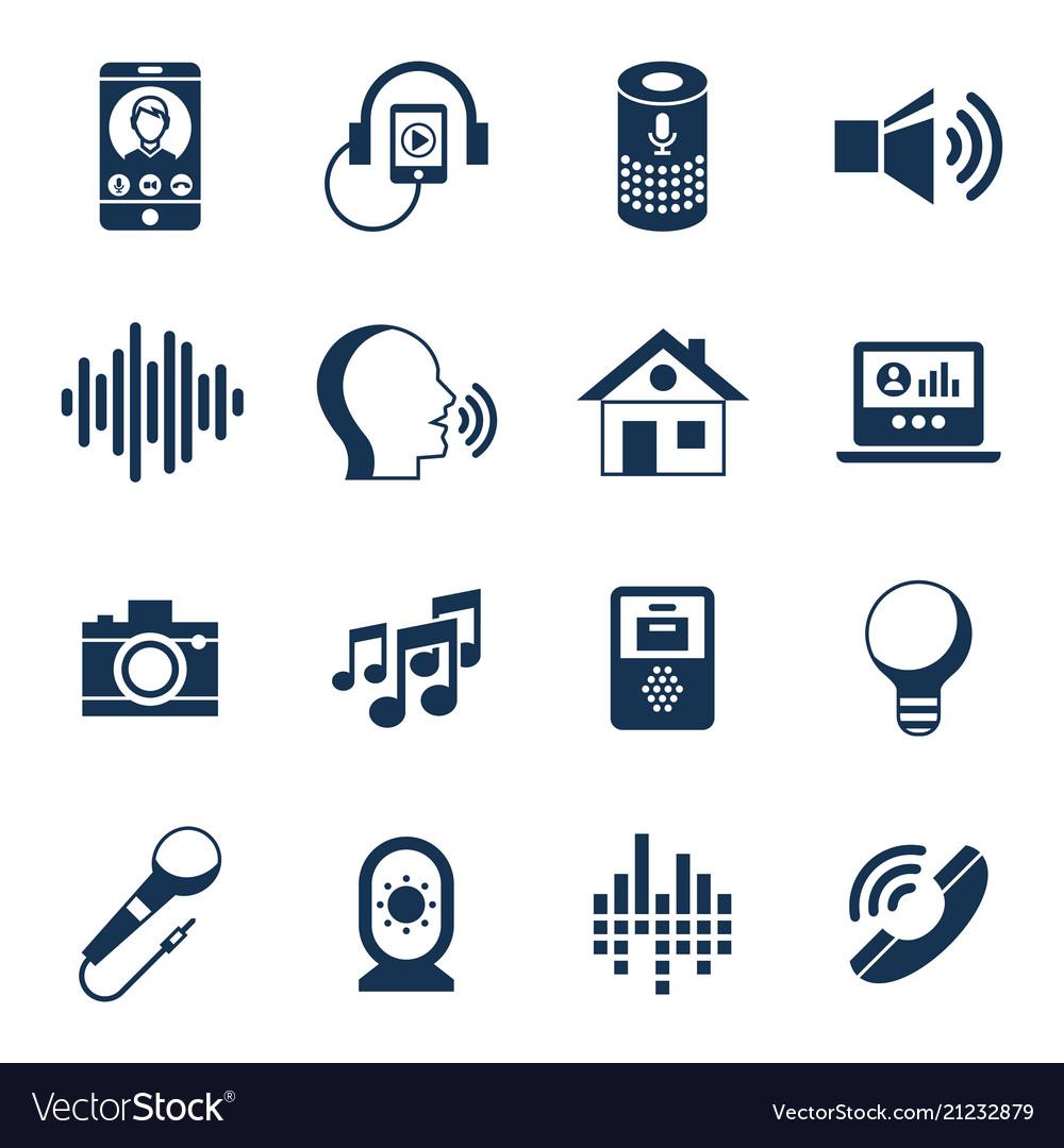 Voice user interface icon set