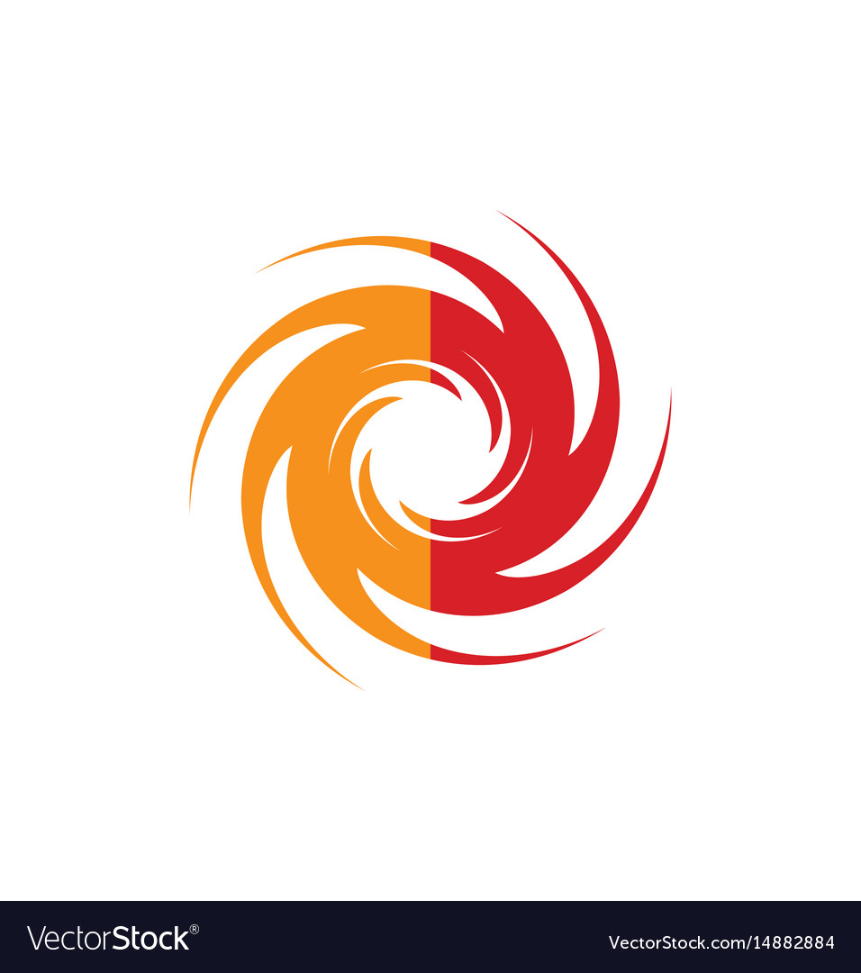 Spin abstract swirl gear logo vector image