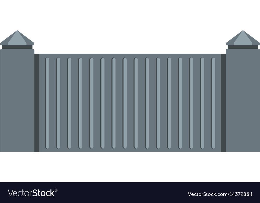 Stone fence icon isolated