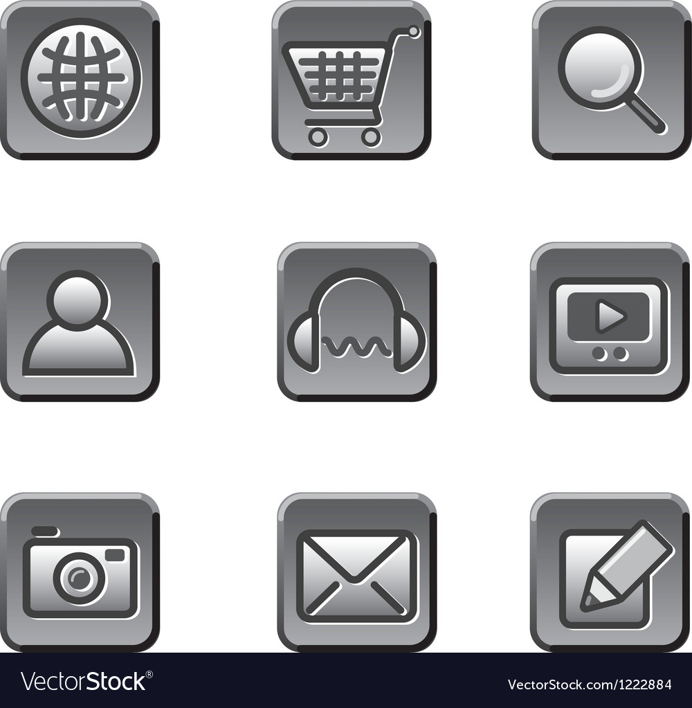 Website buttons icon set