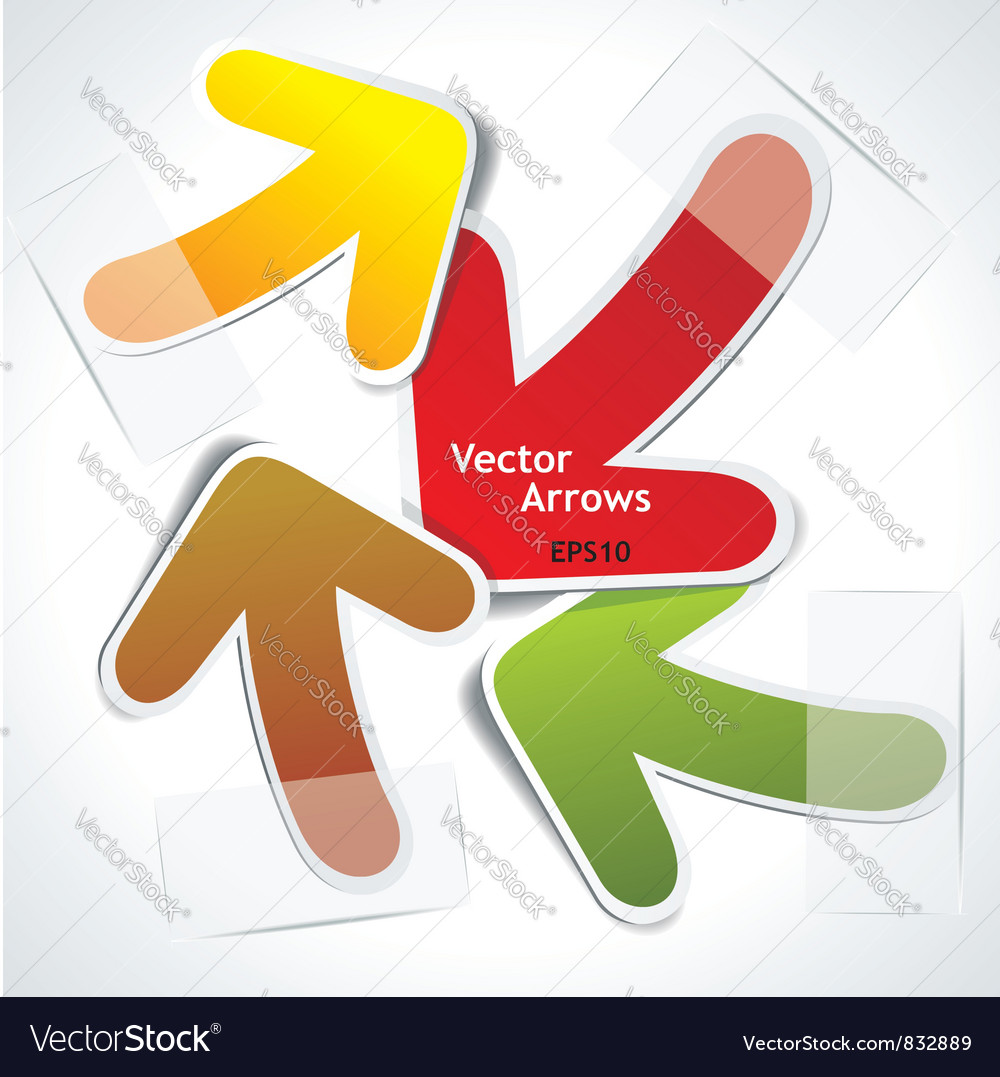 Arrows chaos vector image