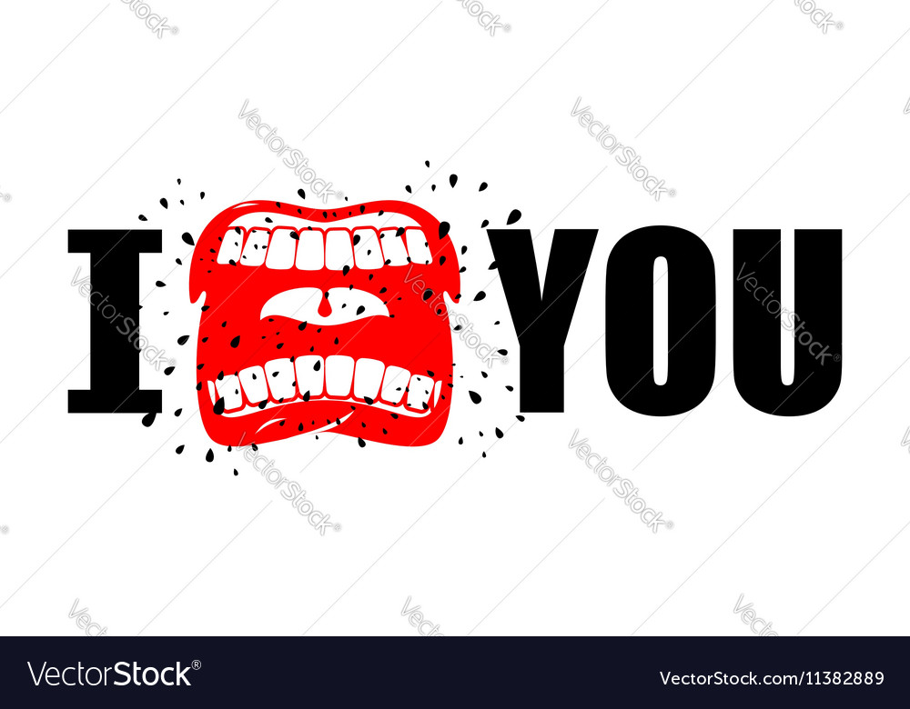 I Hate You Shout Symbol Of Hatred And Antipathy Vector Image