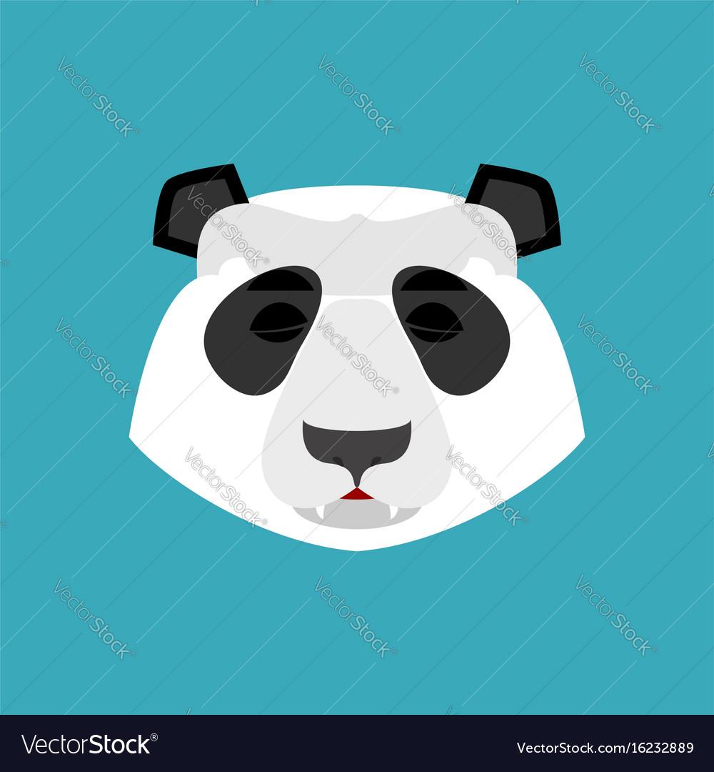 Panda Sleeping Emoji Chinese Bear Asleep Emotion Vector Image