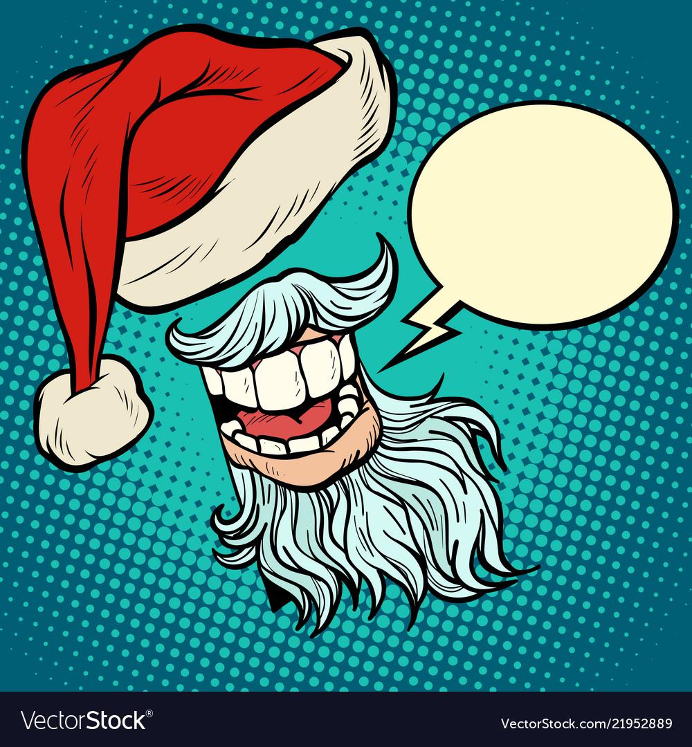 Santa claus beard and hat