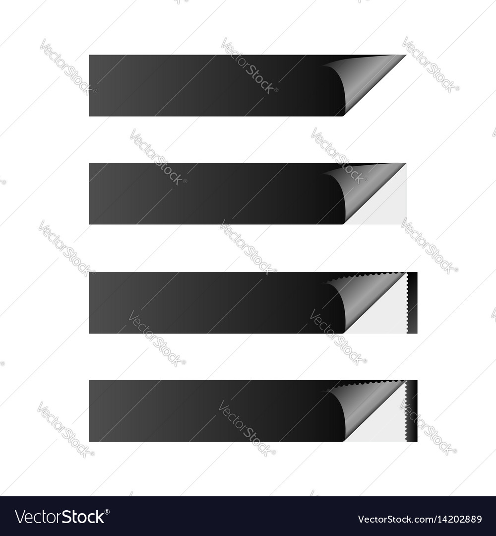 Sticker banner black