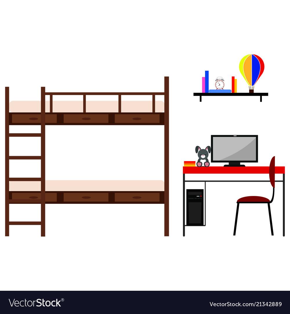 student dorm room royalty free vector image - vectorstock  vectorstock