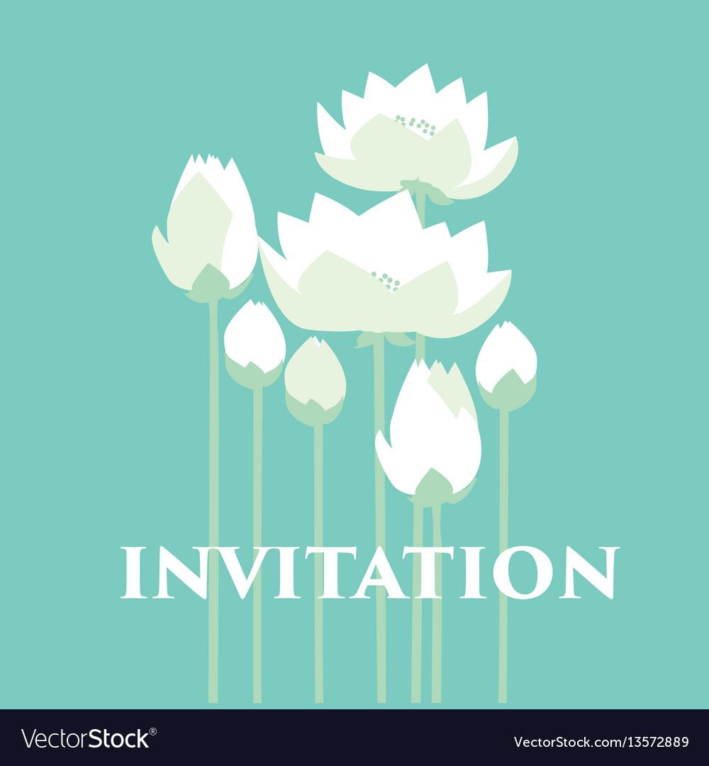 Tender elegant white water floral for invitation