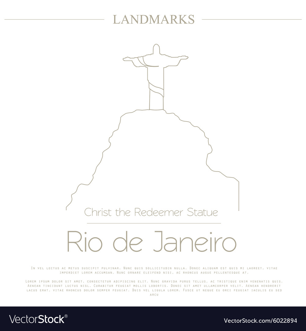 World landmarks Rio de Janeiro Brazil Christ the