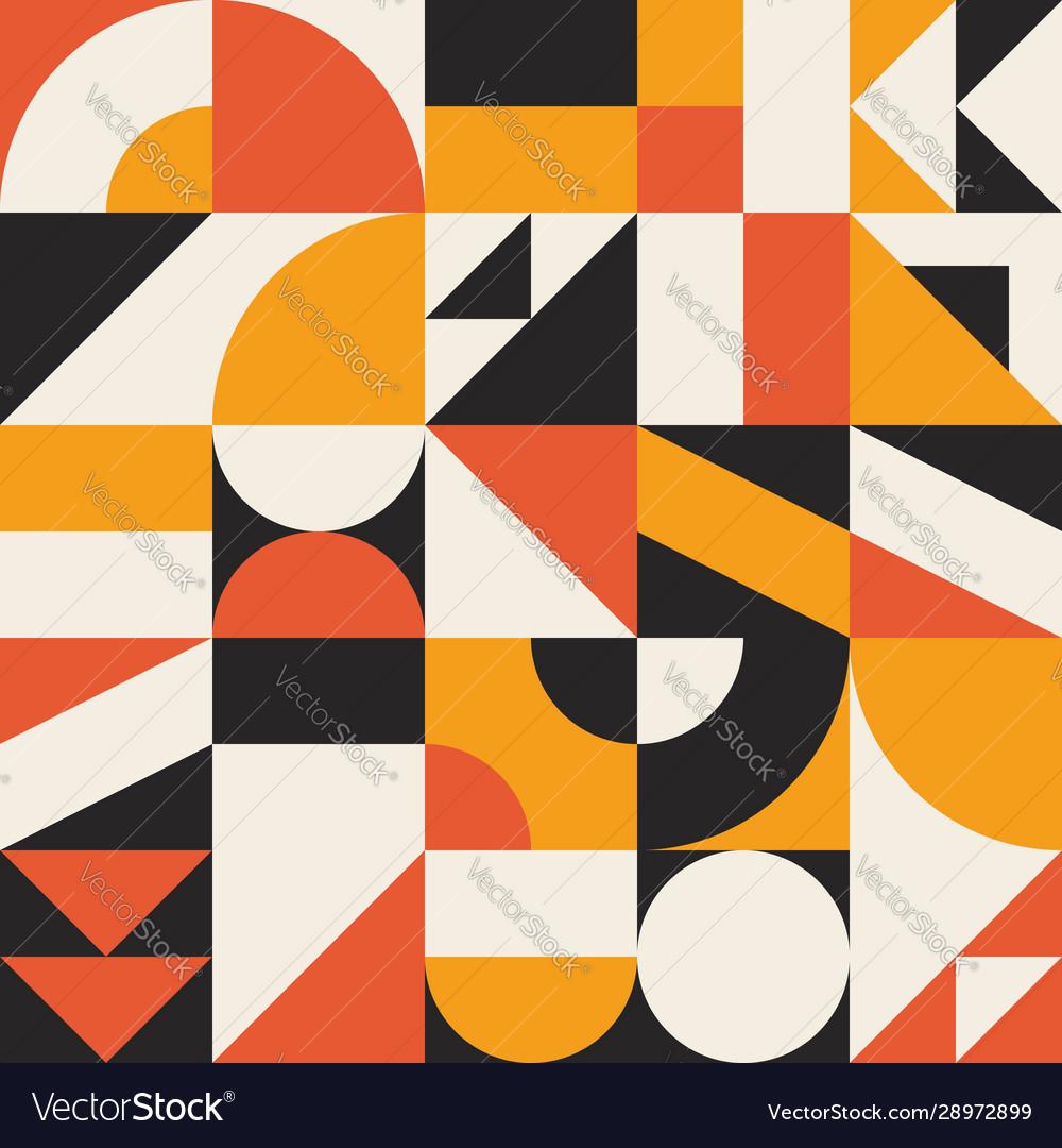 Bauhaus background retro colorful geometric