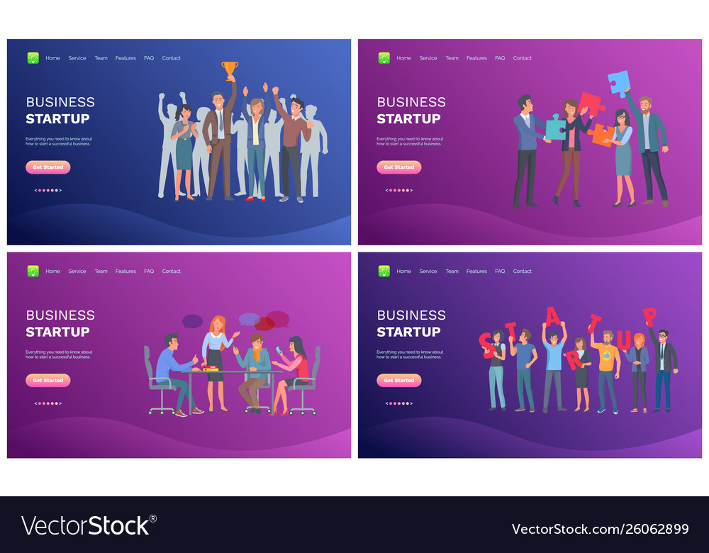 Business startup creative and strategy web