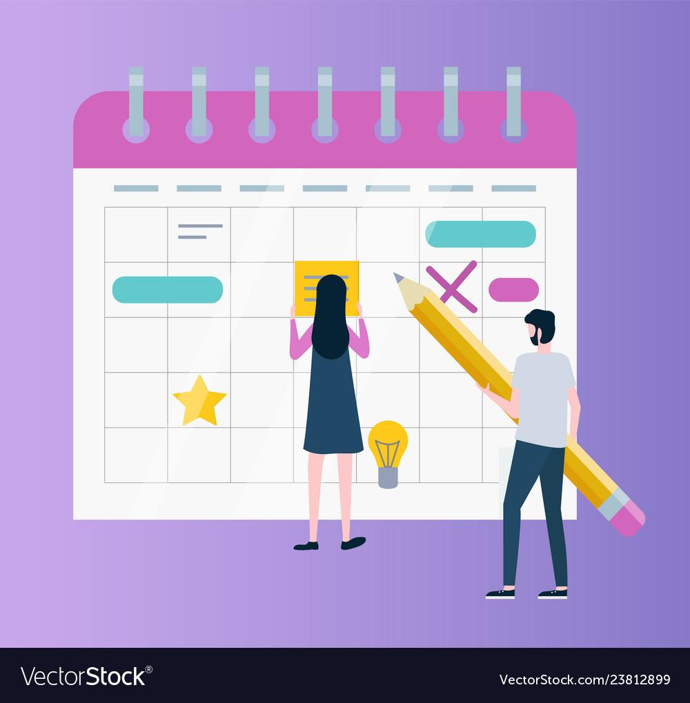 Calendar or organizer time management or planning