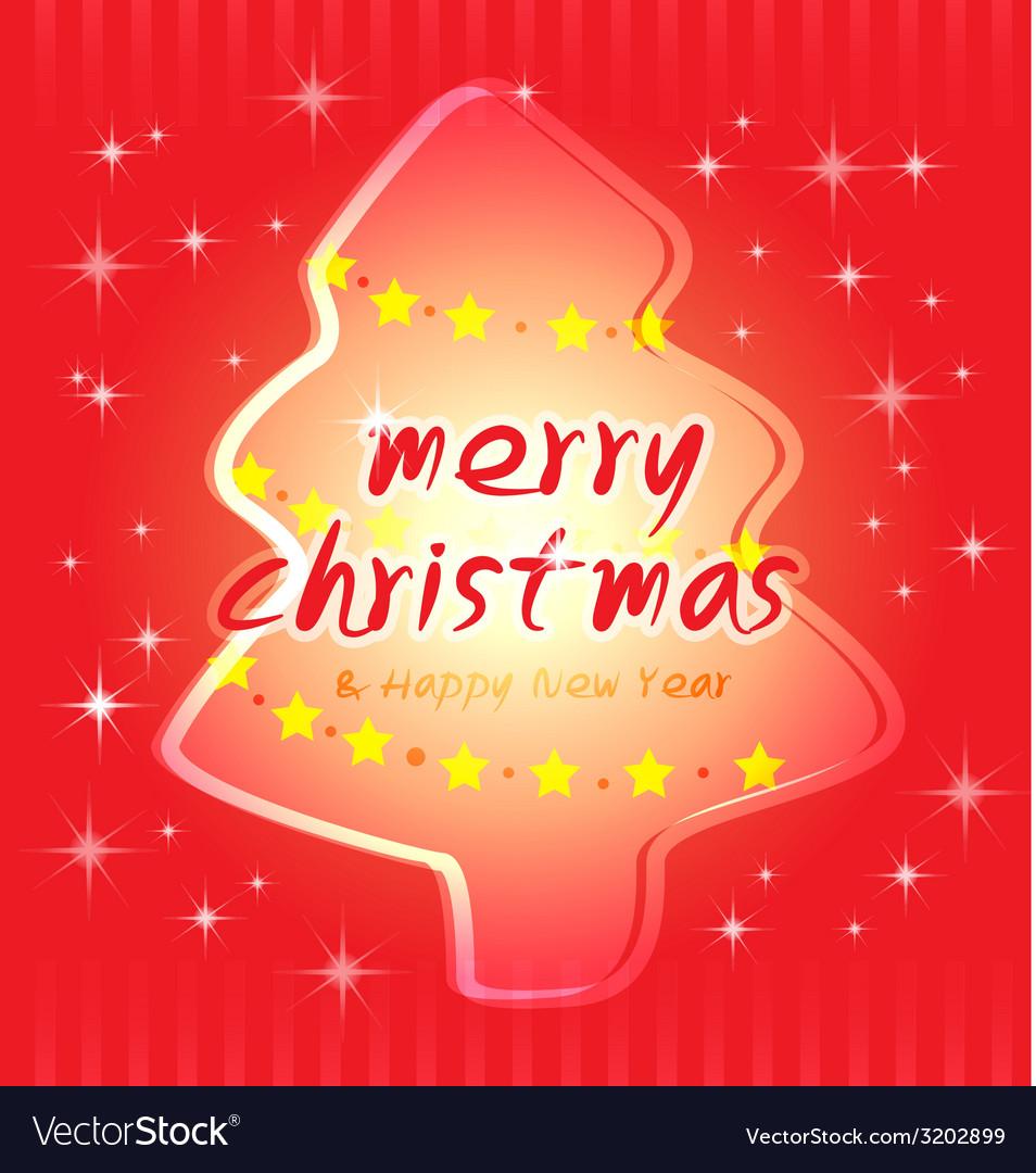 Christmas and trees card