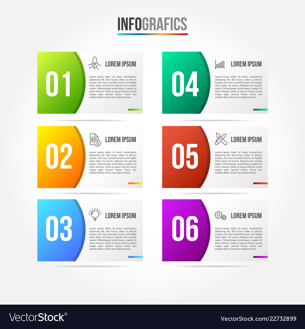 Colorfull infographic template with 3d paper label