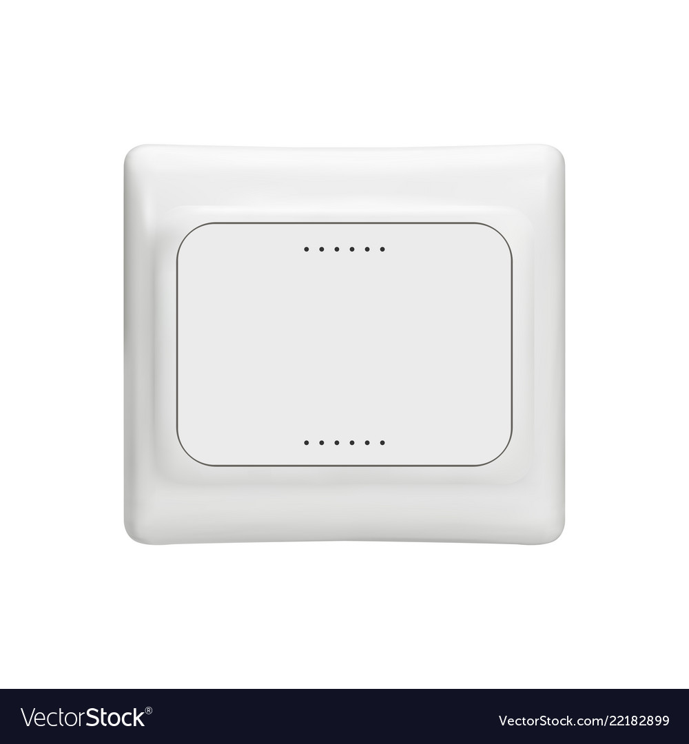 Electrical outlet - mock up template isolated on