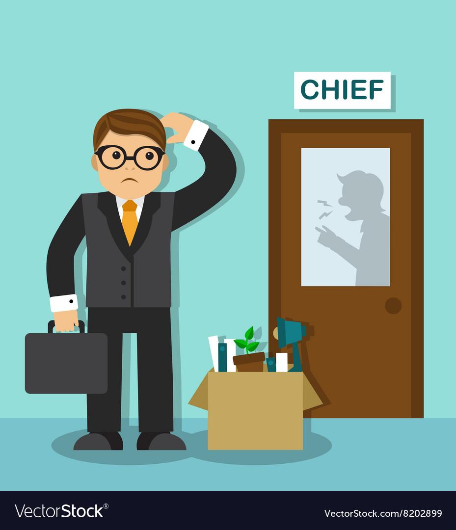 employee dismissal royalty free vector image vectorstock