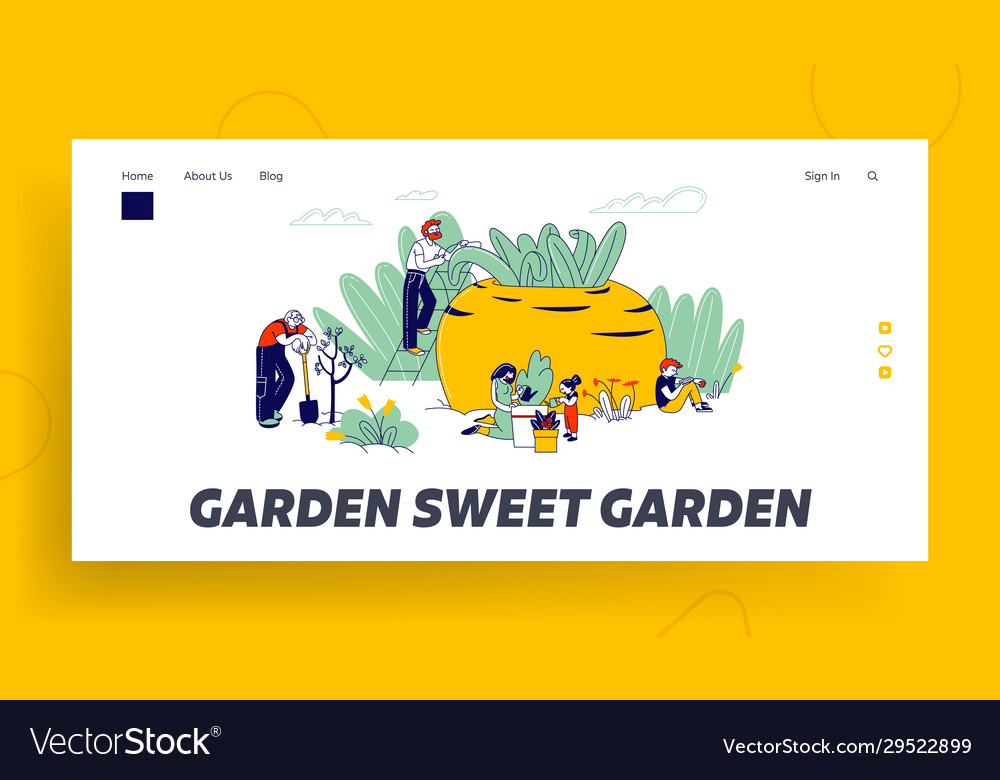 Gardening hobwebsite landing page farmers or