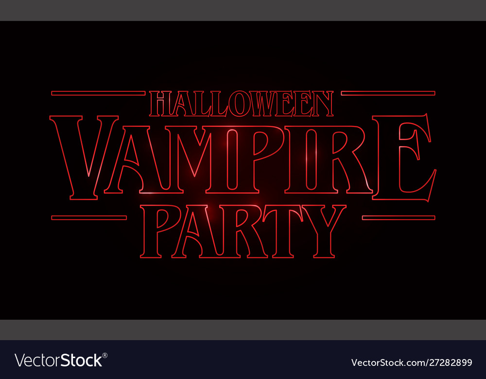 Halloween vampire party text design halloween