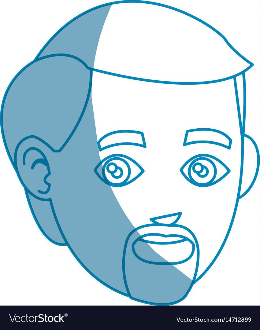 Head beard man character design