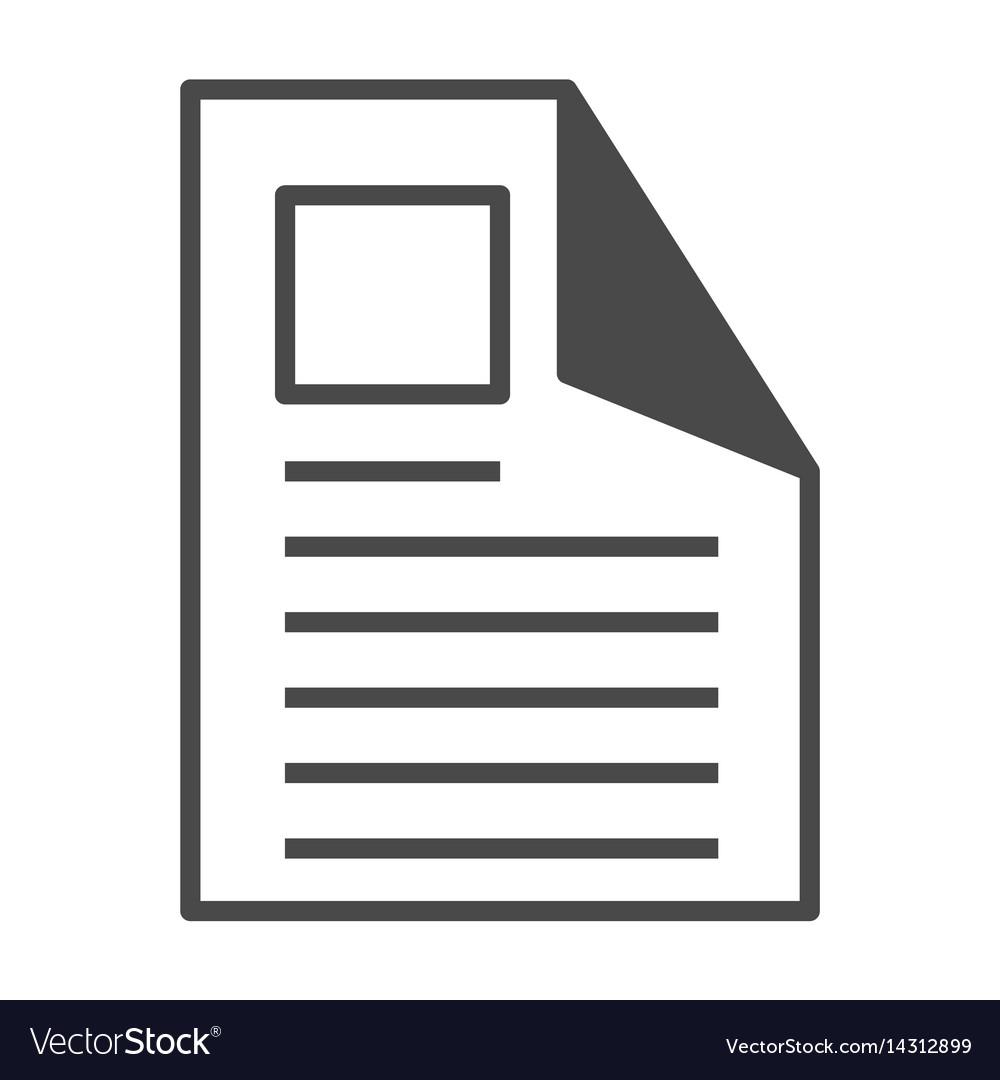 Printable advertisement isolated icon
