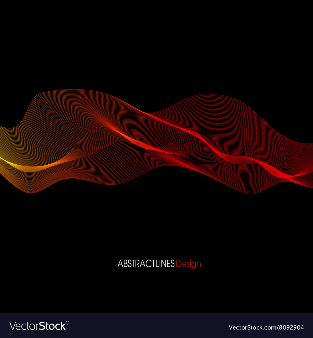 Abstract red Lines Design Black background