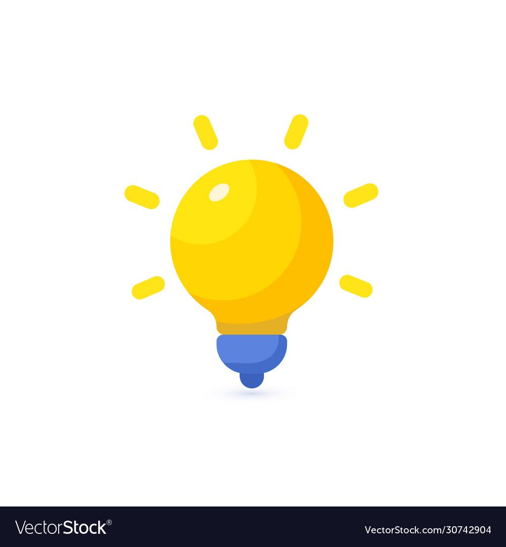 Bright yellow lamp icon energy lightbulb logo