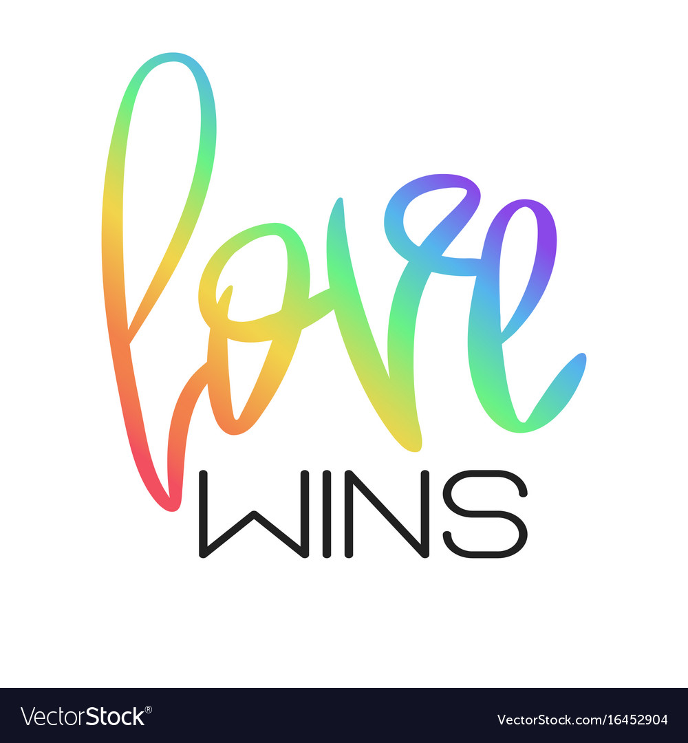 conceptual poster with rainbow lettering vector image