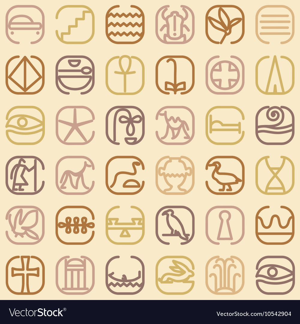 Egypt symbol icon seamless pattern