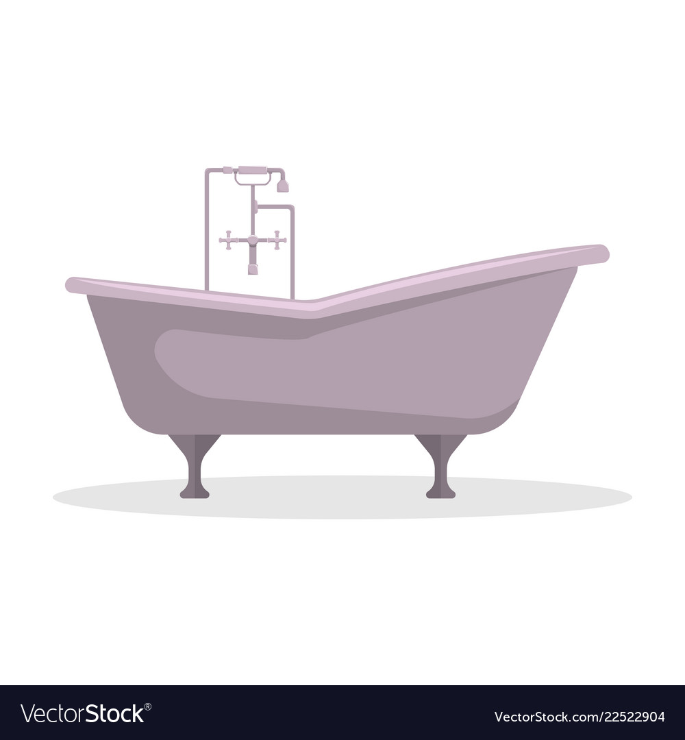 Flat roll-top bath an isolated figure