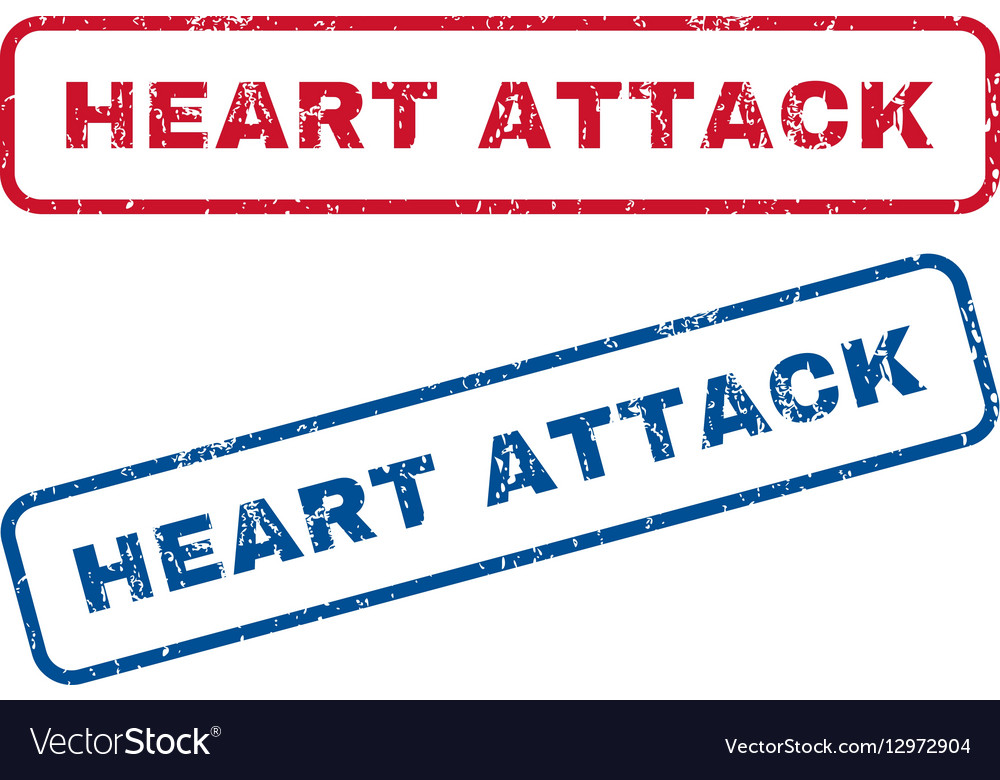 Heart Attack Rubber Stamps