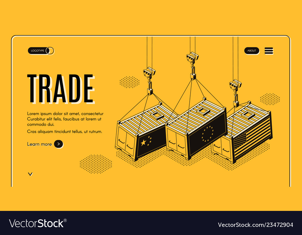 International trade company site template