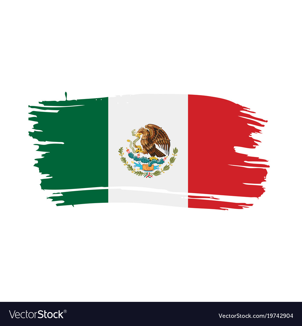 mexican flag royalty free vector image vectorstock rh vectorstock com mexican flag vector free mexico flag eagle vector