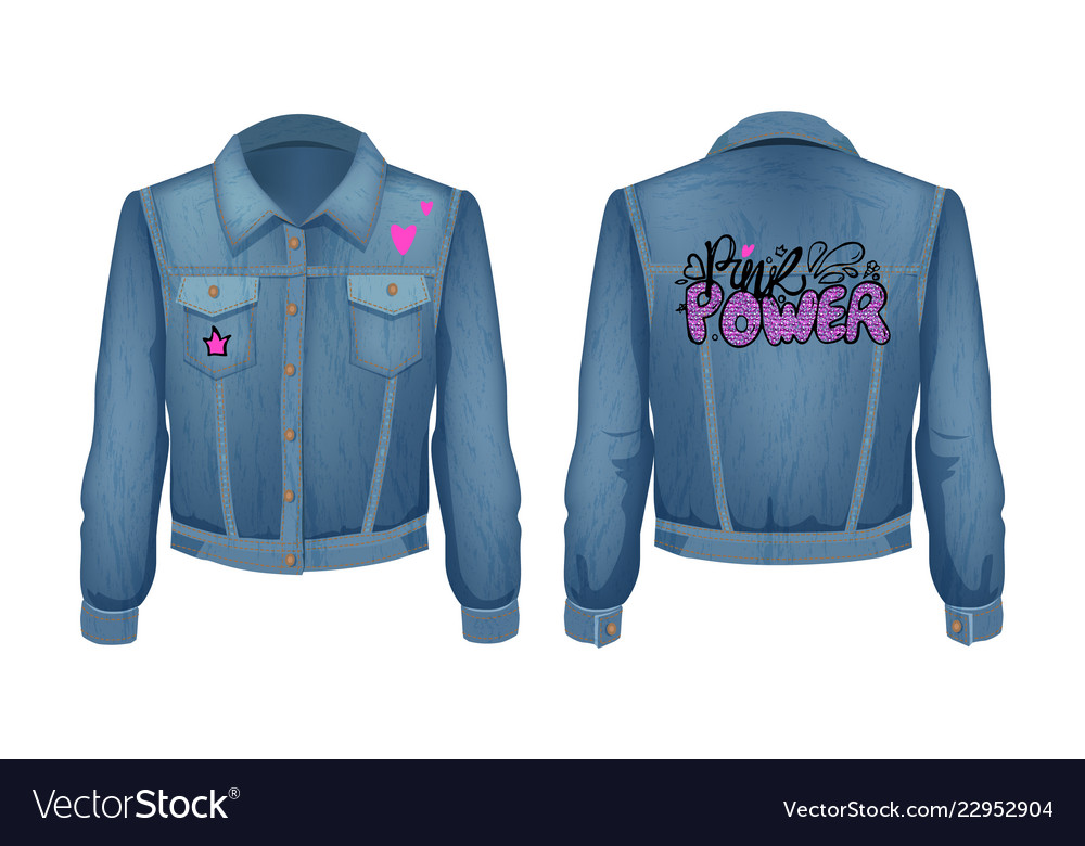 Punk power denim jeans jacket