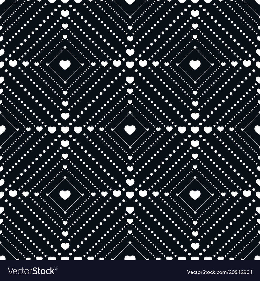 Seamless pattern small of dots and hearts