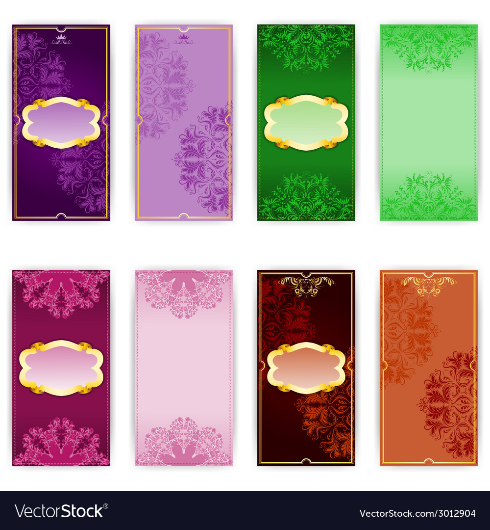 Set of invitation card vector image