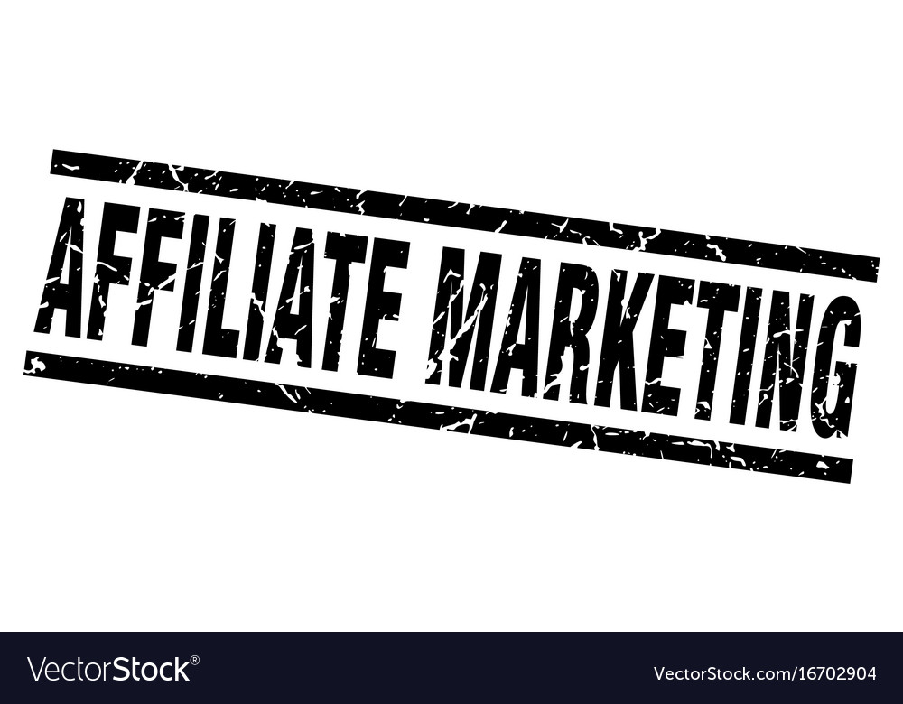 Square grunge black affiliate marketing stamp vector image on VectorStock