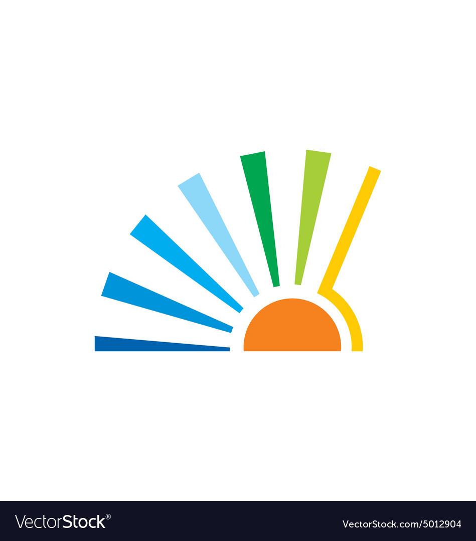 Sun solar icon abstract logo