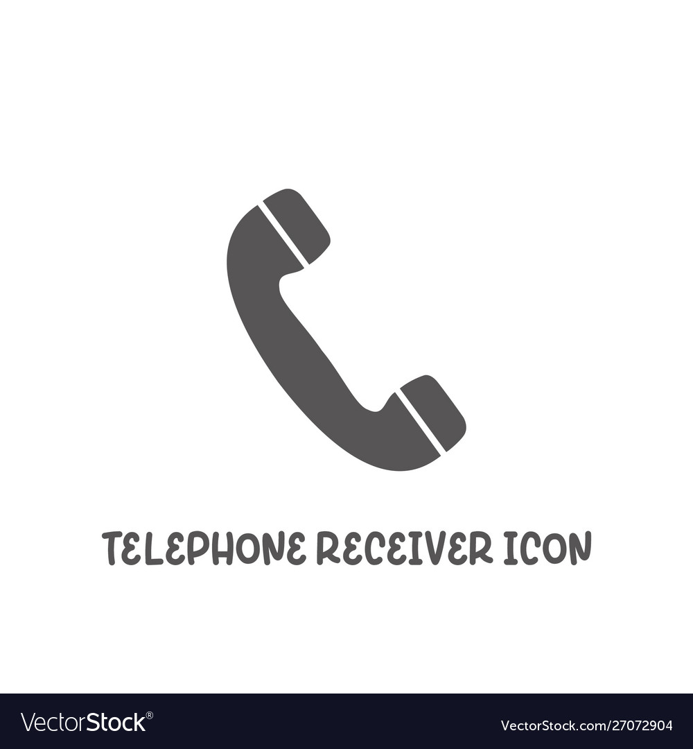 Telephone receiver icon simple flat style