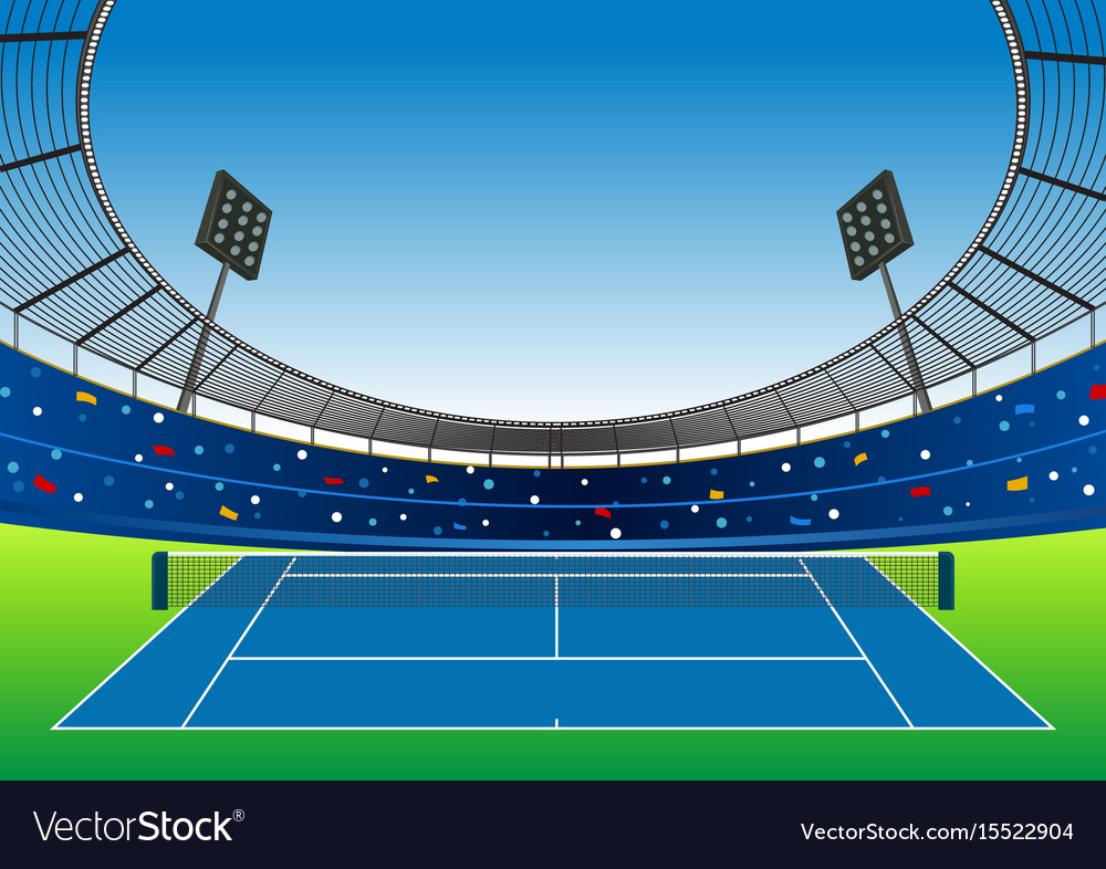 Tennis Court Stadium Royalty Free Vector Image