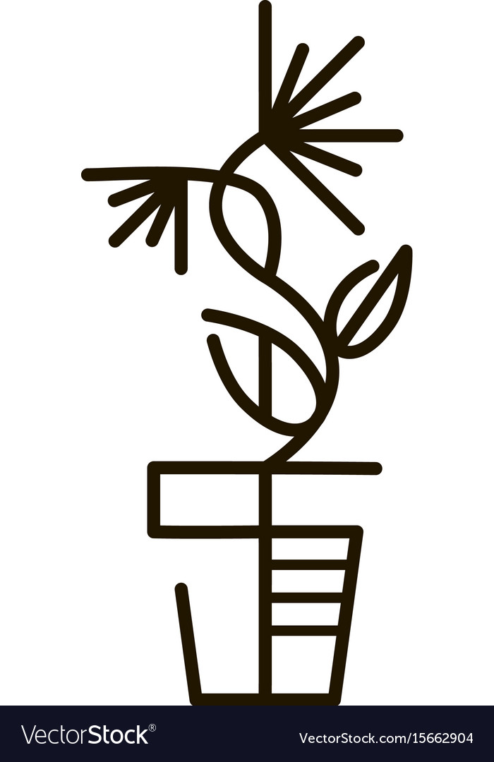 Web line icon flower in a pot line art icon
