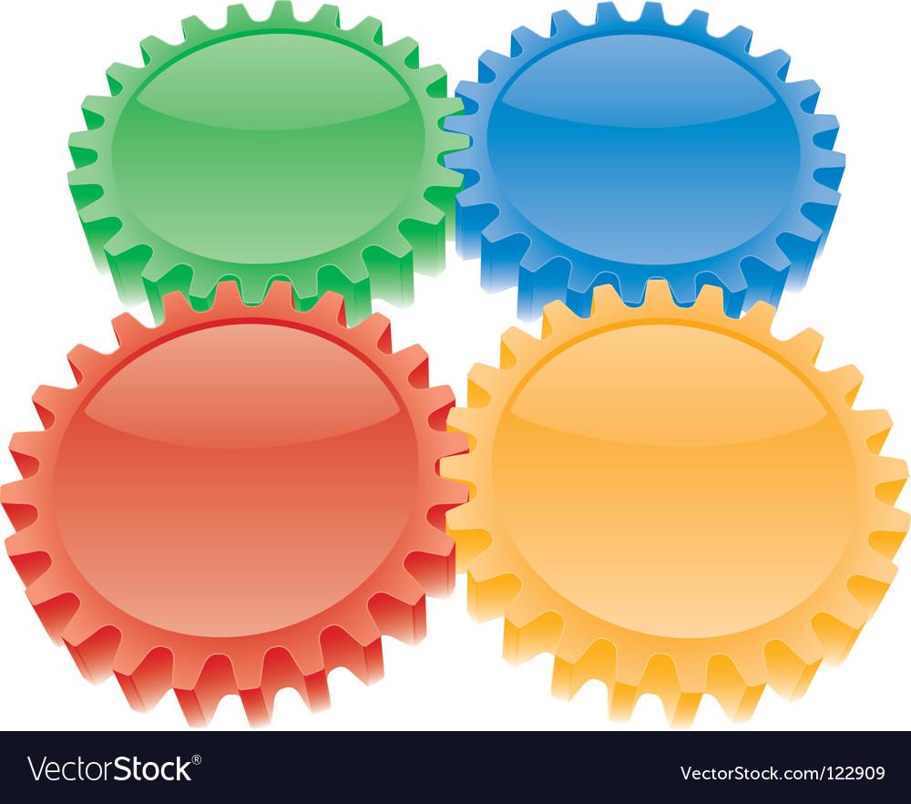 3d colorful gears set