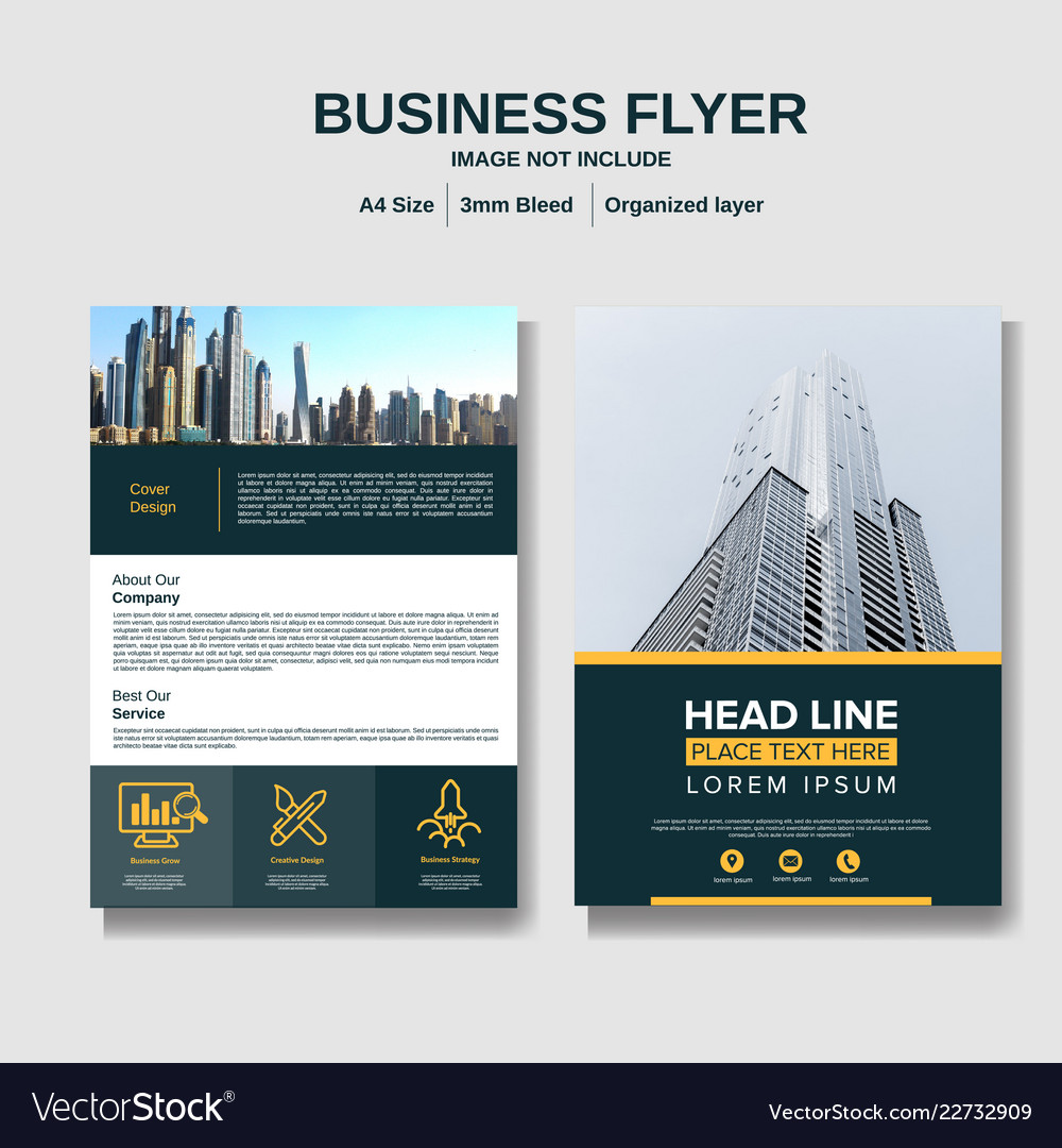 Business flyer layout background