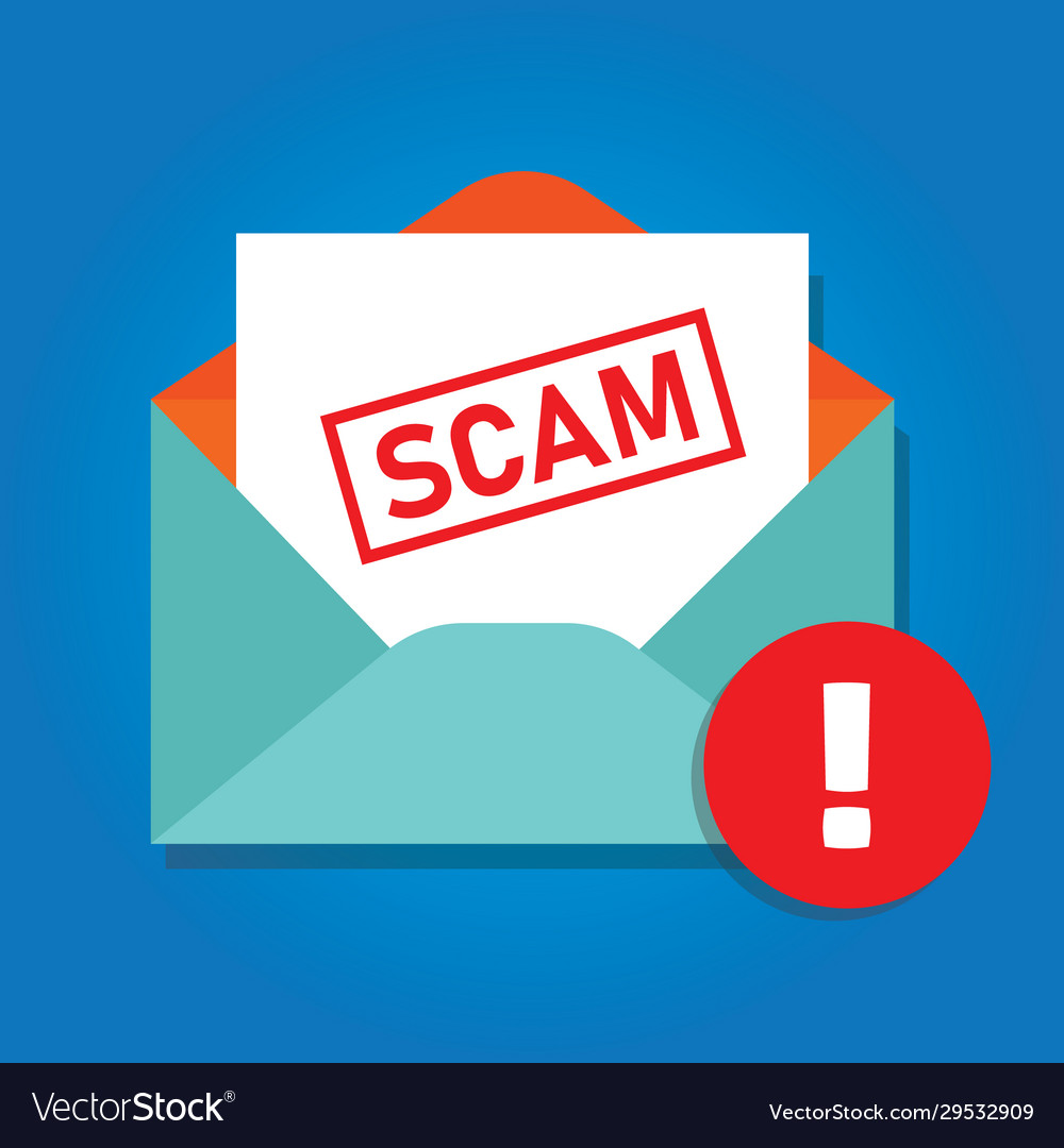 Email scam icon envelope with phishing content