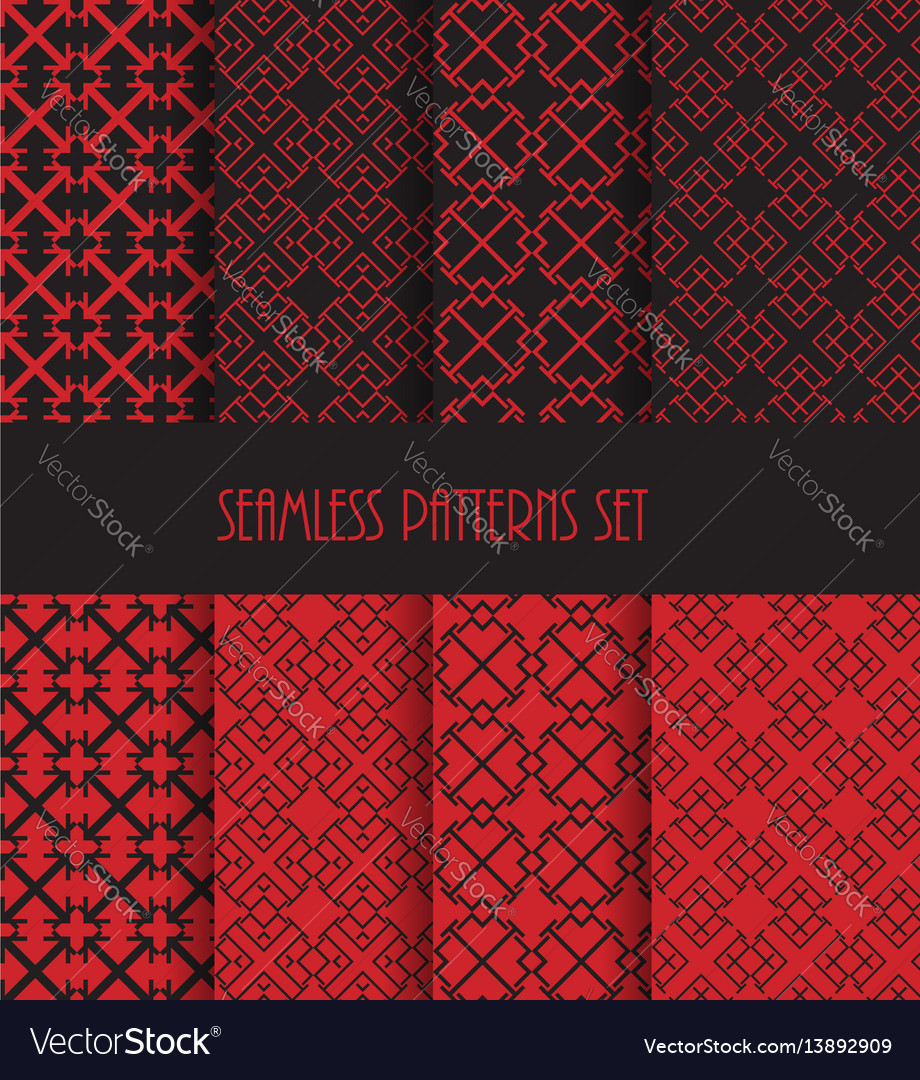 Endless oriental ornament repeatable geometric vector image