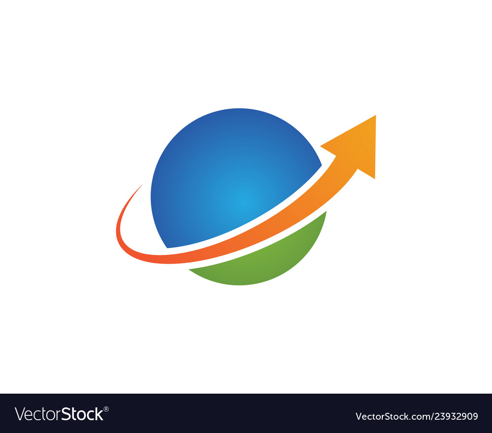 Global logo template vector
