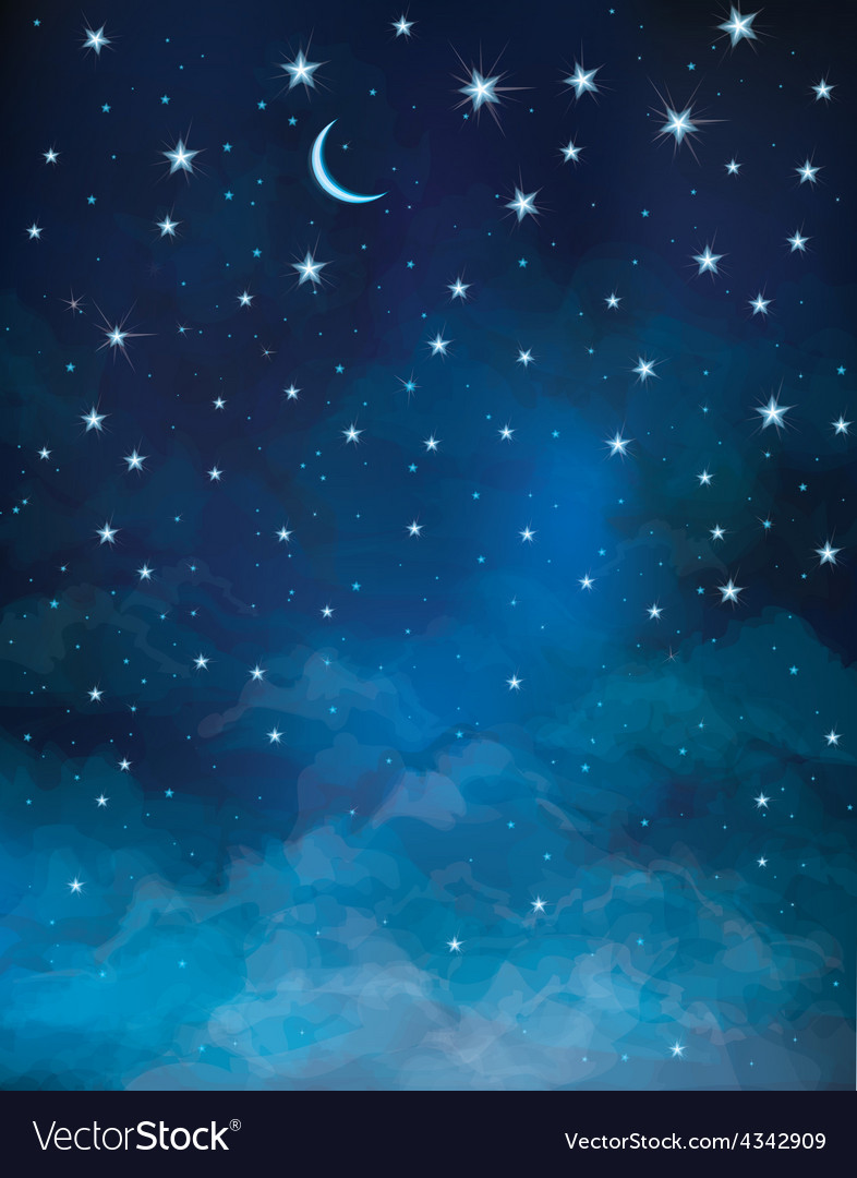 Sky night vector