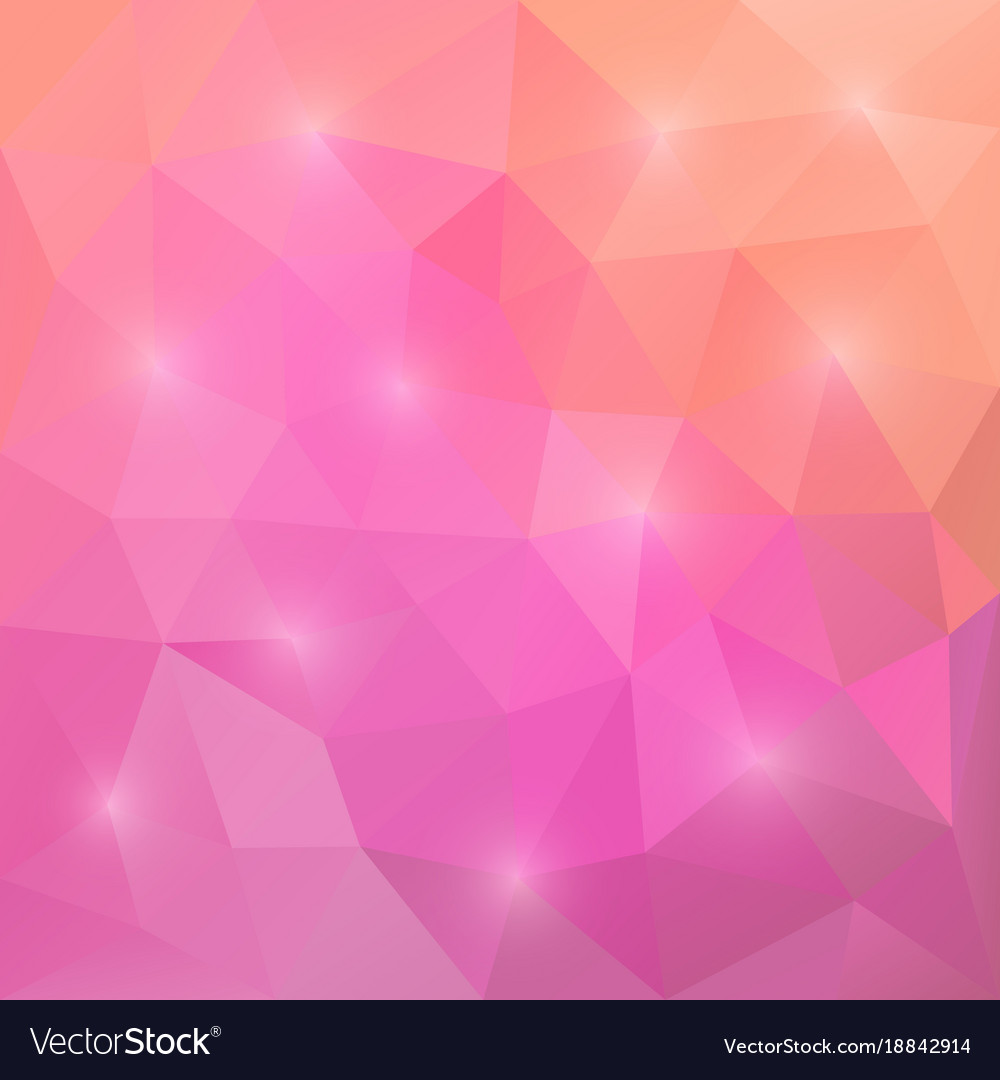 abstract triangular mosaic pink background vector image vectorstock