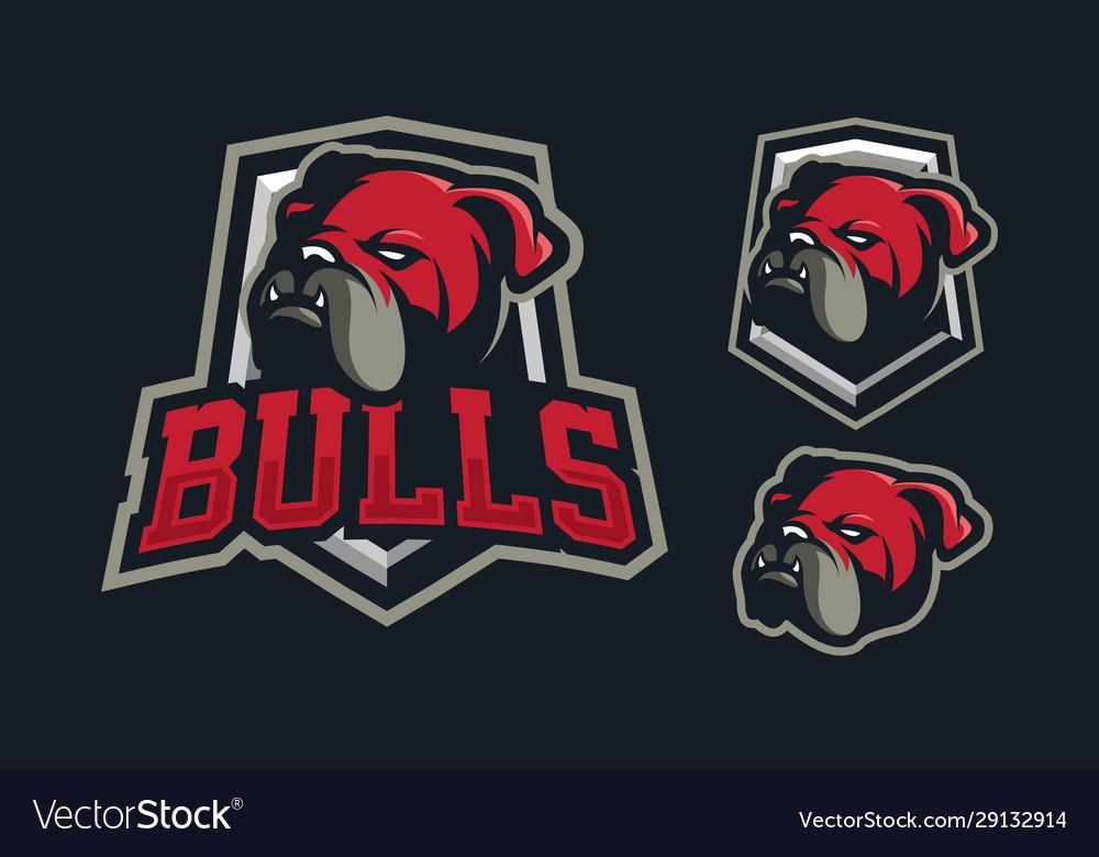 Bulldog mascot logo design
